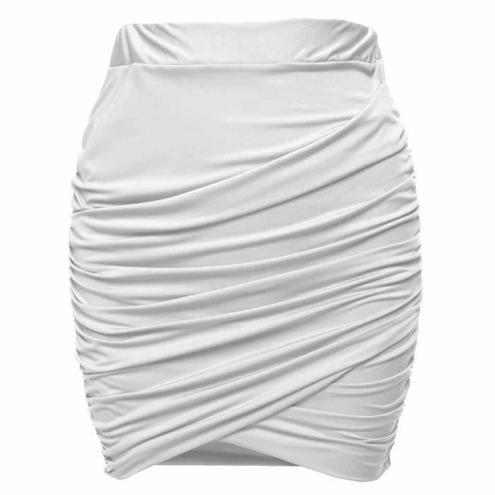 Taille Mini Noir Crayon vert blanc Jupe Élastique Femme Arme FqwOvtSq