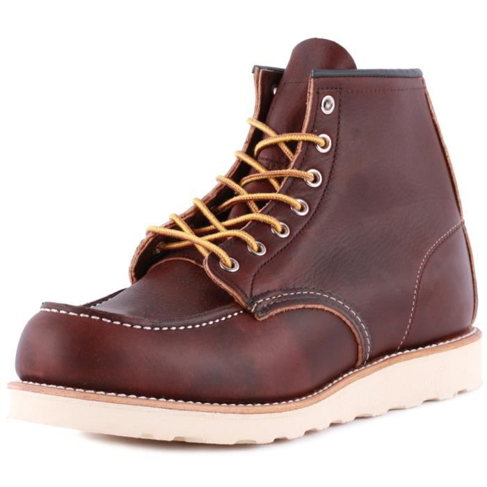 Red Wing 6-inch Moc Toe Hommes Bottes Brown - 9 UK
