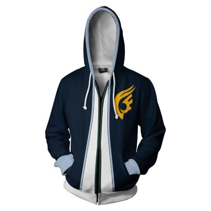 Fairy Tail Déguisement Sweater à Capuche Sweat Pullover Hoodie Homme
