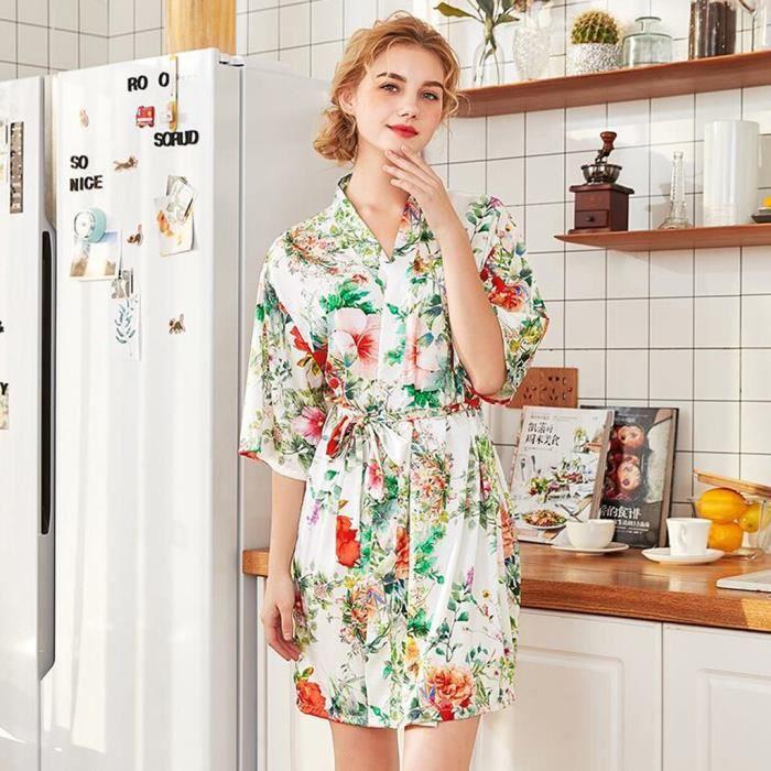 Soie Mesdames BustierCorsetlingerieFemmes Mariée Robe Chambre Peignoir Simulation Pyjama De White iXPkZOu