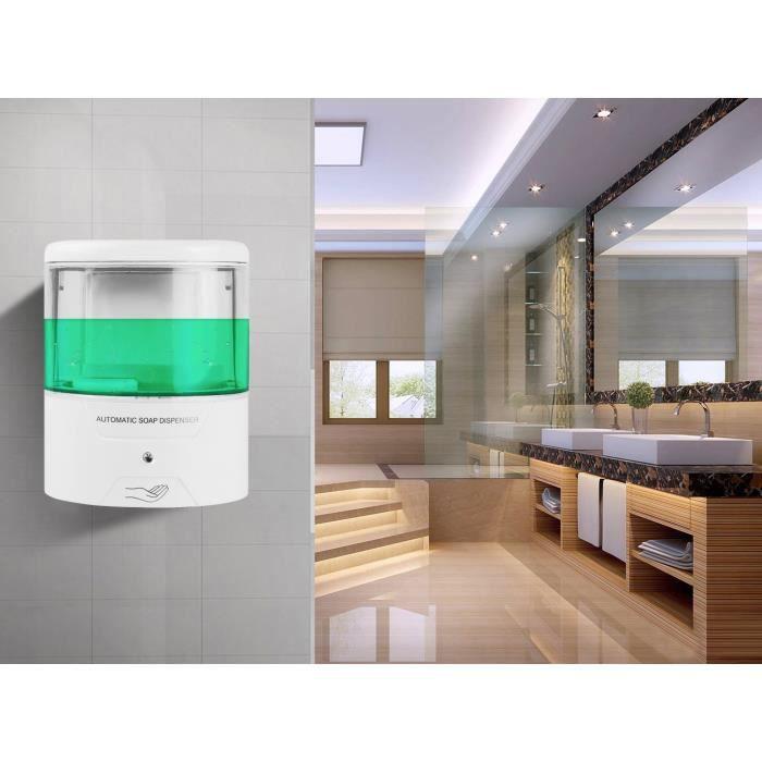 600ml distributeur de savon capteur infrarouge for Distributeur savon mural automatique