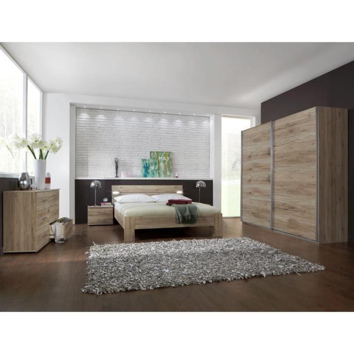 Chambre Adulte Moderne Chêne San Remo 180 X 200 Cm Achat Vente