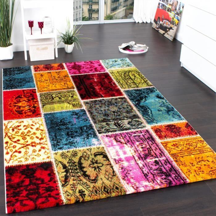 tapis tapis vintage multicolore 160x230 cm - Tapis Multicolore