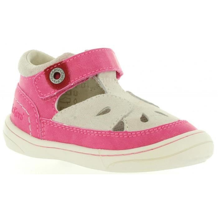Chaussures pour Fille KICKERS 469740-10 ZELA 213 FUCHSIA BEIGE
