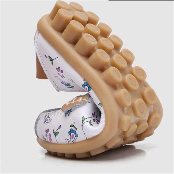 Moccasin Femmes Marque De Luxe Haut qualité Chaussure femme Poids Léger Chaussures à semelles souples Antidéra dssx092bleu41 CYyB98ez2