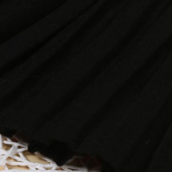 a59cc358292 Enfants Filles Princesse Jupe plissée Jupe College vent jupe taille haute  app4263 Noir Noir - Achat   Vente jupe - Cdiscount