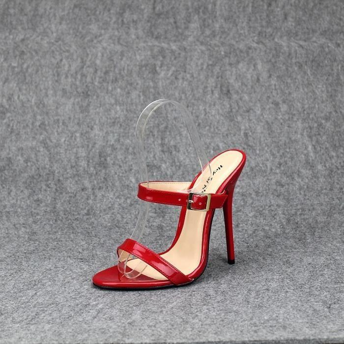 13cm sexy fétichiste Talons Slingback Sandales Parti Chaussures pour dames Extreme Talons Mode Femmes Chaussures ouvertes Toe Pumps 8TikN6Gw