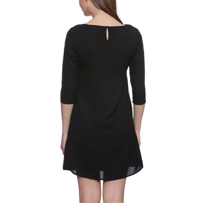 Womens Black Polyester Dresses RBU1P Taille-34