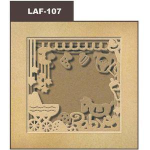 Cadre photo en carton Naissance 21x21 cm