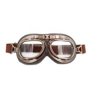 LUNETTES - MASQUE Lunette Moto aviateur vintage Clair Len