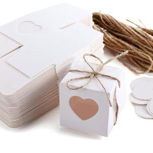 BOÎTE À DRAGÉES 50 Boîtes à Dragées bonbon Coeur + Etiquette messa