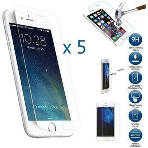 FILM PROTECT. TÉLÉPHONE 5 x Vitre d'écran verre trempé iPhone 6/6s Ultra r