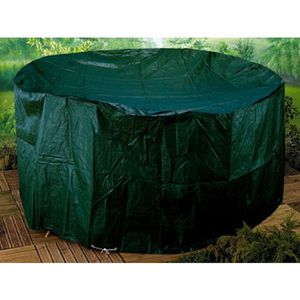 housse table de jardin ronde achat vente housse table de jardin ronde pas cher cdiscount. Black Bedroom Furniture Sets. Home Design Ideas