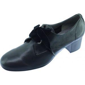 Chaussure noire richelieu femme talon - Achat   Vente pas cher 26d1538f3f65