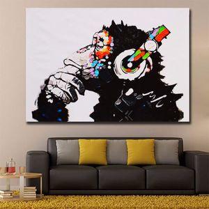 TABLEAU - TOILE Home Décoration Oils Paintings DJ Monkey HD Imprim
