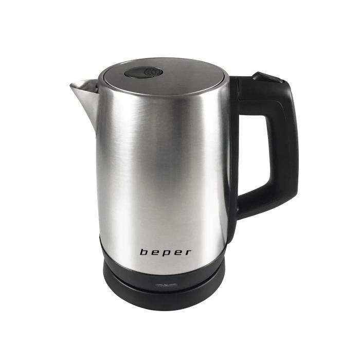 BEPER BB.102 Bouilloire électrique - 1,7 L - 2200 W - Acier