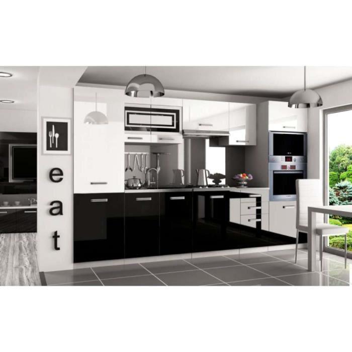 JUSThome Syntka Pro Cuisine équipée complète 300 cm Couleur: Noir ...