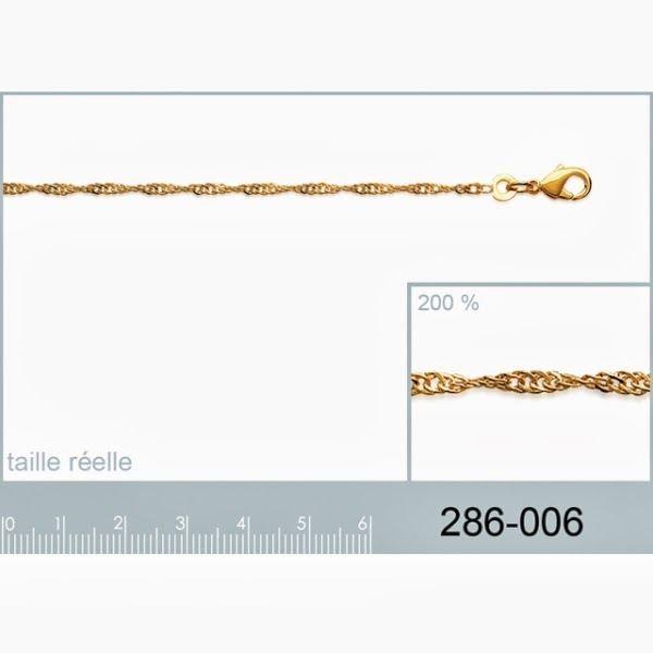 Bracelet Plaqué Or Chaine Maille…