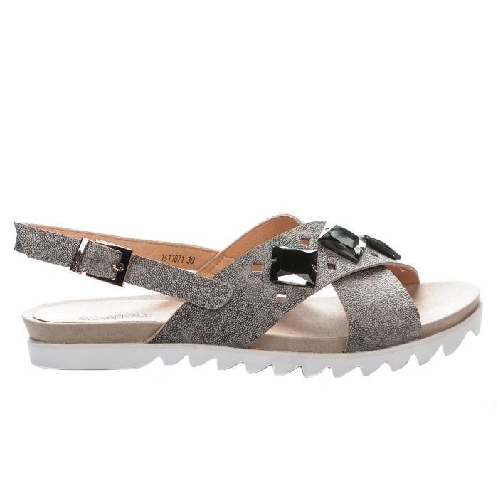 Nu pieds femme - MISS BEHAVE - Gris - JYCX15AB9-1