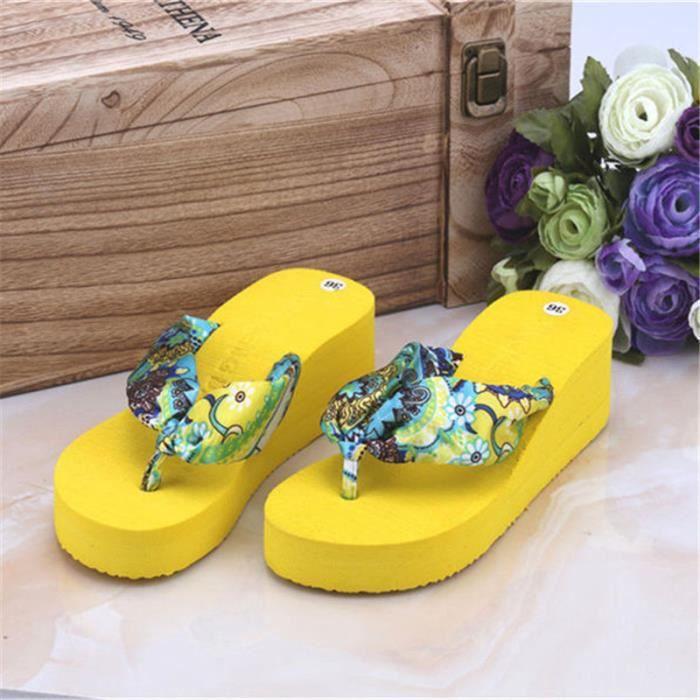 pantoufle été sandale hauteur croissante femmes de chaussures d'été 2017 sandale pantoufles chaussure de luxe femme KZ8ZRzKaLc