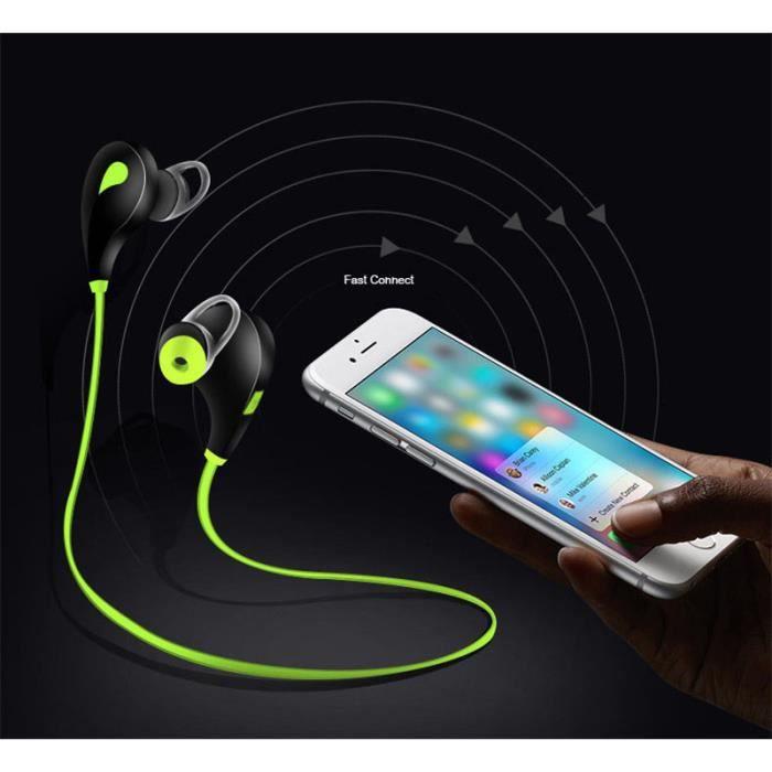 Oem - Ecouteurs Bluetooth Sport Pour Sony Xperia Xz2 Compact Smartphone Sans Fil Bouton Son Kit Main Libre Couleur:noir