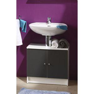 MEUBLE VASQUE - PLAN SLASH Meuble sous-lavabo L 59 cm - Gris anthracite