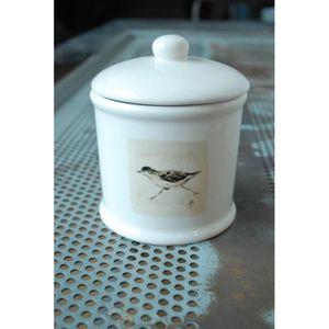 DISTRIBUTEUR DE COTON Grand pot à coton oiseau vert