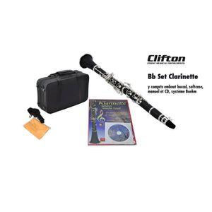 CLARINETTE Clarinettes Clifton Bb avec embouchure, étui soupl