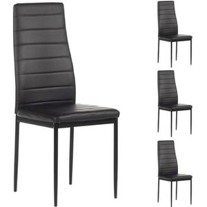 chaises cuir achat vente chaises cuir pas cher cdiscount. Black Bedroom Furniture Sets. Home Design Ideas
