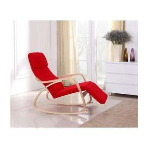 FAUTEUIL Rocking chair ROUGE chaise à bascule fauteuil rela