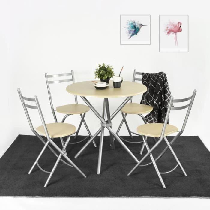 ensemble table de cuisine avec 4 chaises table de - Table Chaise Salle A Manger