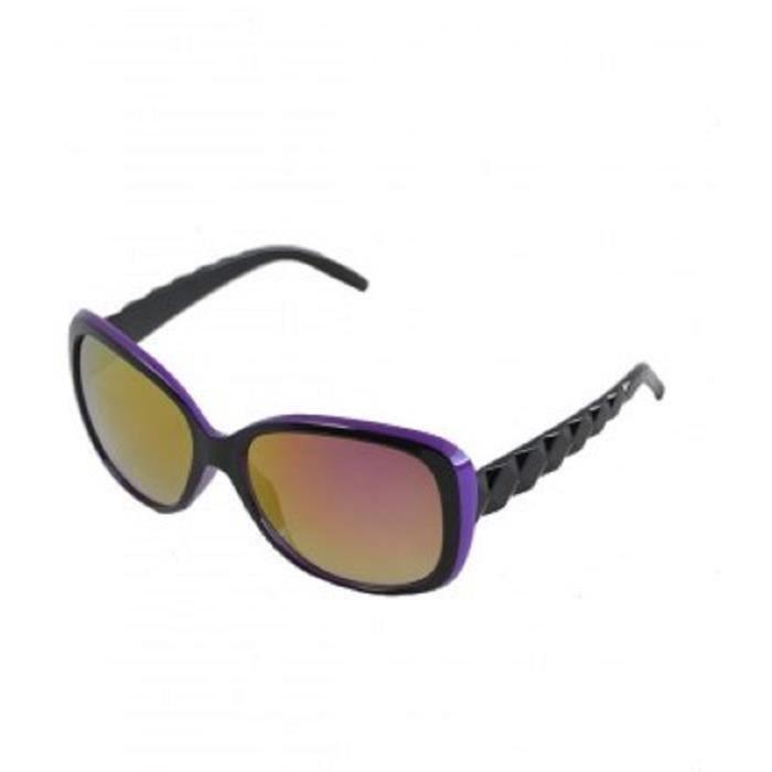Lunette de soleil fantaisie violette, UV protection catégorie 3.