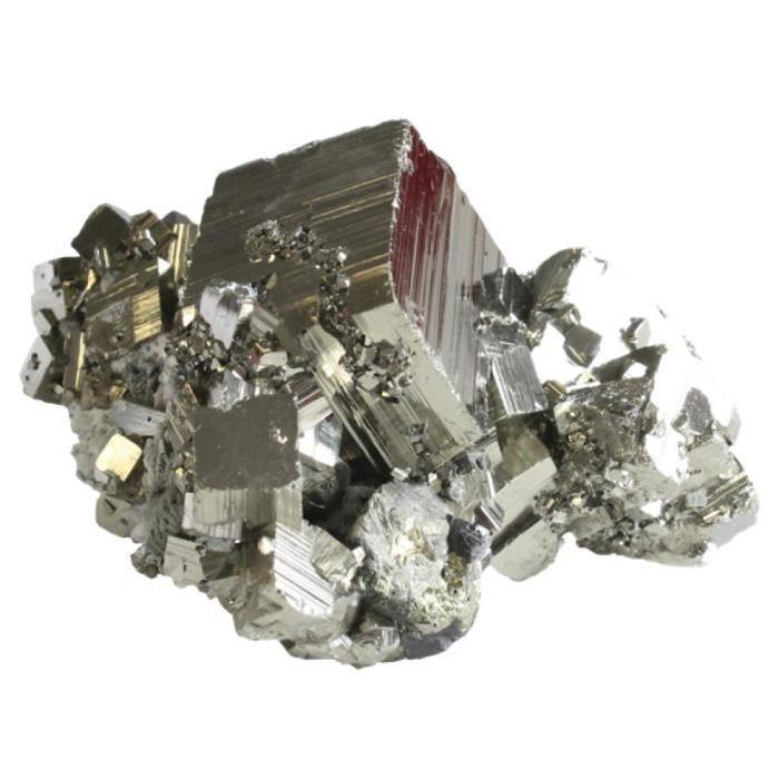 Pyrite Gros Cristaux - Qualité Super Extra unique Multicolore