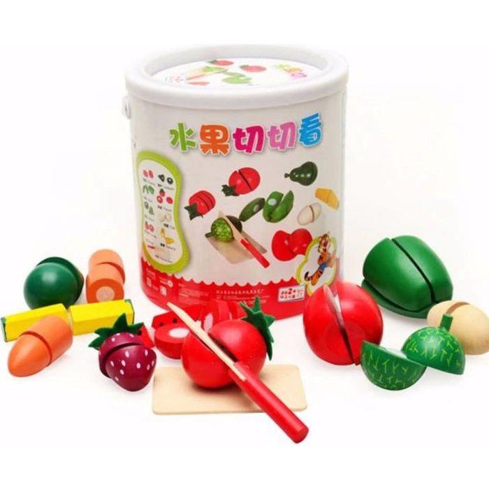l gumes fruits en bois cuisine jouet de coupe avec. Black Bedroom Furniture Sets. Home Design Ideas