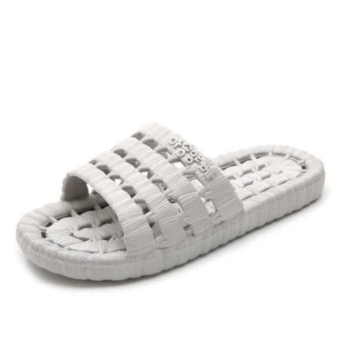 pantoufles homme marque de luxe chaussure branché meilleure qualité plein air d'été 2017 nouvelle Grande Taille 40-45 Plus couleur wedMx