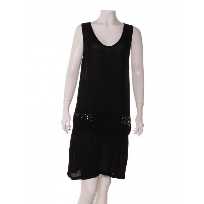 Robe mi-longue COP-COPINE 38 Noir en Viscose