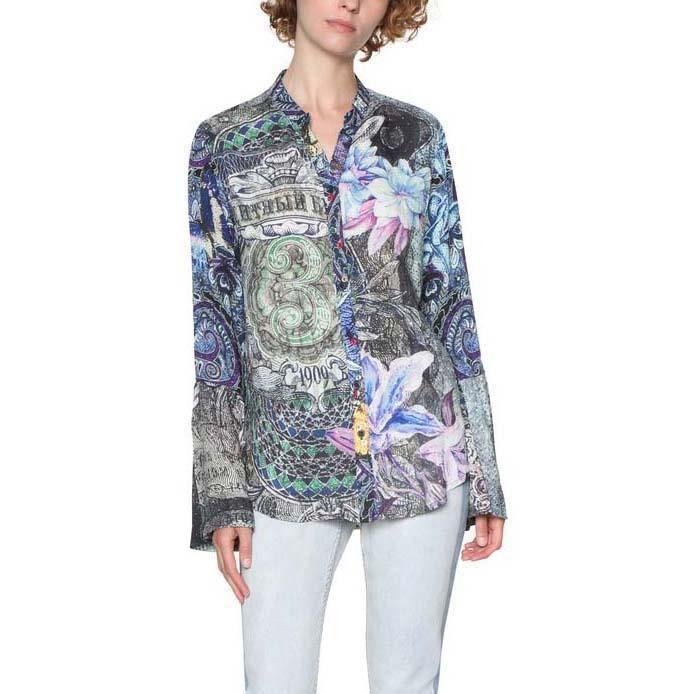Vêtements femme Chemisiers et chemises Desigual Canaf Blanc ... f22413afab84