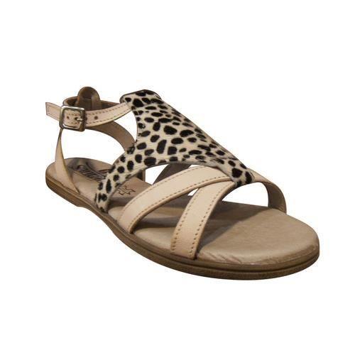 Sandales SANTAFE en cuir beige/tigre Qml5h5lob6