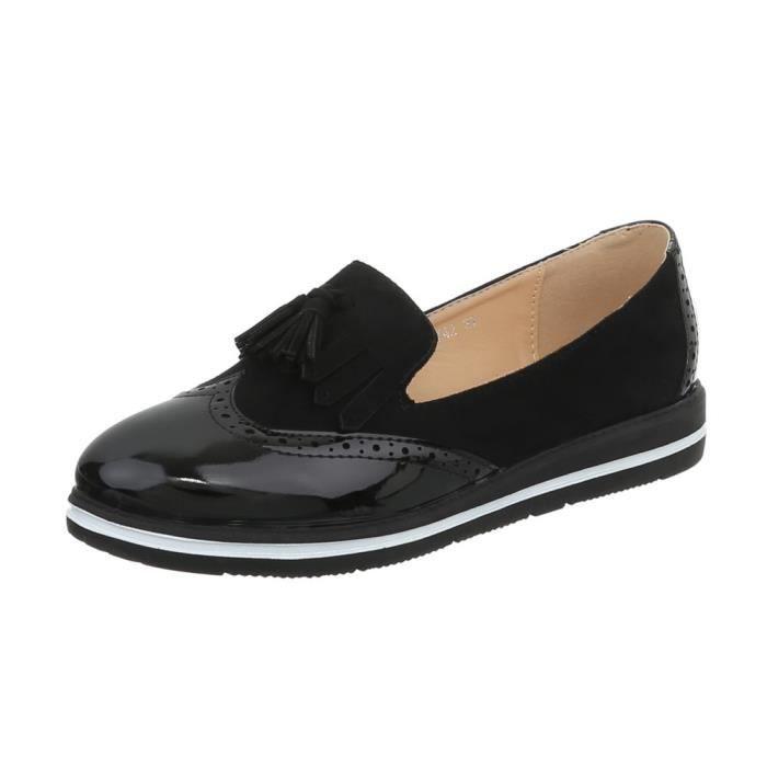 La 36 neurs Noir Babouche Chaussures Femme Fl tqF040