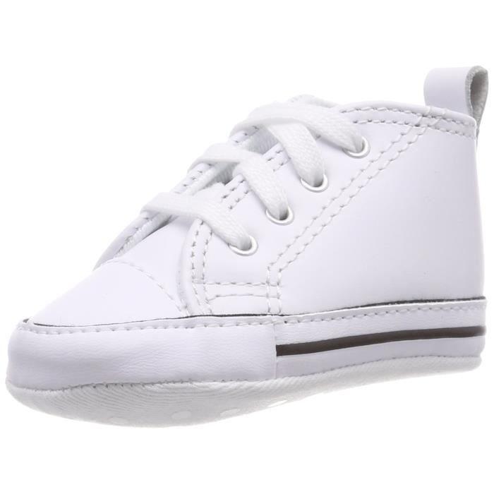 c0433e8d4c23f Converse baskets première étoile cuir enfant 3XBNTM Taille-35 Blanc ...
