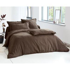parure de lit en lin lave achat vente parure de lit en. Black Bedroom Furniture Sets. Home Design Ideas