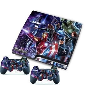 STICKER - SKIN CONSOLE The Avengers pour PlayStation 3 Slim Mince Console