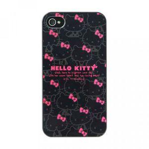 COQUE - BUMPER Coque arrière Hello Kitty fond noir et rose pour …