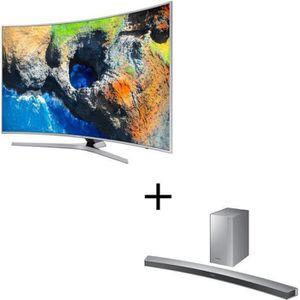 PACK TV COMBINÉ ET ACCESSOIRES SAMSUNG UE65MU6505 TV LED Incurvée UHD 163cm (65''