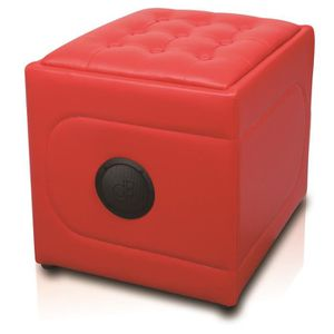 STATION D'ACCUEIL POUF MUSICAL BLUETOOTH MODELE SOFA SOUND RED