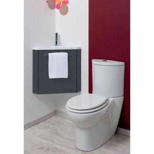 MEUBLE VASQUE - PLAN Meuble lave-mains à suspendre d'angle Ninon Anthra