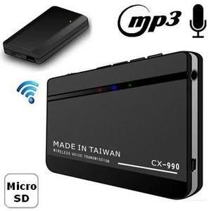 Système d'écoute Transmetteur de voix sans-fil Lec.MP3 enregistreur