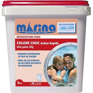TRAITEMENT DE L'EAU  Chlore choc Action Rapide Marina 5kg - Mini Galets
