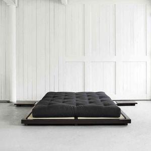 STRUCTURE DE LIT Lit futon style japonais en bois massif 160x200
