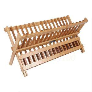 EGOUTTOIR A CARAFE 2 couches Plateau sèche-vaisselle en bambou égoutt
